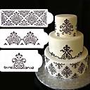 billige Bakeredskap-3 stk blonder blomst kake stencil kake kake fondant side bryllup dekorere baking verktøy