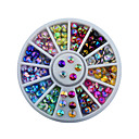 cheap Rhinestone & Decorations-4mm colorful sharp crystal nail rhinestone wheel shiny glitter nail art tips decoration tools