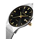 abordables Relojes de Vestir-WWOOR Hombre Reloj de Pulsera Chino Calendario / Resistente al Agua / Noctilucente Acero Inoxidable Banda Lujo / Casual / Reloj de Vestir Plata / Dos año