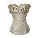 preiswerte Backformen-Damen Schnüren Korsetts - Volltonfarbe