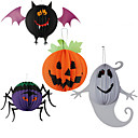 cheap Holiday Party Decorations-3PC Hanging Lanterns Paper Spider For Halloween Costume Party Random Color
