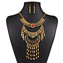 cheap Necklaces-Women's Jewelry Set Statement, Ladies, Vintage, European, Fashion, African Include Necklace / Earrings Gold / Silver For Wedding Party Daily Casual Work