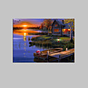 cheap Prints-LED Canvas Art Landscape One Panel Vertical Print Wall Decor Home Decoration