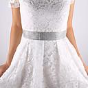 זול כפפות למסיבות-מֶשִׁי חתונה מסיבה\אירוע ערב לבוש ליום אבנט With אפליקציות בגדי ריקוד נשים אבנטים