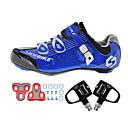 abordables Zapatos de Ciclismo-SIDEBIKE Adulto Zapatillas de ciclismo con pedal y cala / Calzado para Bicicleta de Carretera Nylón Amortización Ciclismo Blanco Negro / azul Hombre