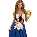 ieftine Costume de Halloween-Oktoberfest / bavareză Costume Cosplay / Costume petrecere Pentru femei Halloween / Oktoberfest Festival / Sărbătoare Costume de Halloween Albastru / Negru Peteci