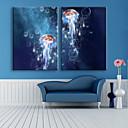 baratos Impressões-Arte em Quadros LED Animais 2 Painéis Vertical Estampado Decoração de Parede Decoração para casa