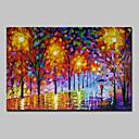 abordables Peintures à Fleurs / Botaniques-Peint à la main Abstrait Paysage Format Horizontal, Moderne Toile Peinture à l'huile Hang-peint Décoration d'intérieur Un Panneau