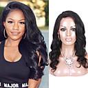 hesapli Doğal Renkli Ek Saçlar-Gerçek Saç Ön Dantel Peruk stil Düz Brezilya Saçı Vücut Dalgası Peruk % 130 Saç yoğunluğu Bebek Saçlı Doğal saç çizgisi Afrp Amerikan Peruk % 100 Elle Bağlanmış Kadın's Şort Orta Uzun Gerçek Saç Örme