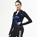 cheap Cycling Gloves-CONNY Women's Track Jacket - White / Black, Blue / White, Black / Blue Sports Patchwork, Geometic, Curve Tracksuit / Top Yoga, Pilates,