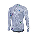 cheap Hiking Trousers & Shorts-Fastcute Men's Long Sleeve Cycling Jersey Stripes Bike Sweatshirt Jersey Top Thermal / Warm Breathable Quick Dry Sports Winter Polyester Coolmax® 100% Polyester Mountain Bike MTB Road Bike Cycling