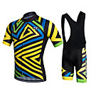 cheap Cycling Jersey & Shorts / Pants Sets-Fastcute Men's Cycling Jersey with Bib Shorts Black Stripes Bike Shorts Bib Shorts Jacket Sports Polyester Silicon Stripes Mountain Bike MTB Road Bike Cycling Clothing Apparel / Quick Dry / Stretchy