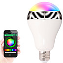 abordables Bombillas LED-1pc 12W 600lm E26 / E27 Bombillas LED Inteligentes 20 Cuentas LED SMD 5050 Smart Bluetooth Regulable Control APP Decorativa 85-265V