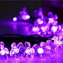 preiswerte LED Lichterketten-7m Leuchtgirlanden 50 LEDs LED Diode Warmes Weiß / RGB / Weiß Wiederaufladbar / Abblendbar / Wasserfest 100-240 V / IP44