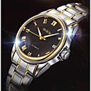 ieftine Ceasuri Mecanice-BOSCK Bărbați ceas mecanic Calendar / Rezistent la Apă Oțel inoxidabil Bandă Casual / World Map Pattern Auriu