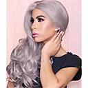 halpa Synteettiset peruukit ilmanmyssyä-Synteettiset peruukit Naisten Runsaat laineet Harmaa Synteettiset hiukset Harmaa Peruukki Suojuksettomat Harmaa