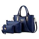 baratos Conjunto de Bolsas-Mulheres Bolsas PU Conjuntos de saco / Zíper Fru-Fru Azul Claro / Rosa escuro / Cinza Claro / Conjuntos de sacolas