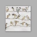 billige Dyremalerier-Hang malte oljemaleri Håndmalte - Pop Kunst Klassisk / Moderne Lerret / Stretched Canvas