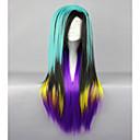 billige Kostumeparyk-Syntetiske parykker / Kostumeparykker Lige Syntetisk hår Grøn Paryk Dame Lågløs