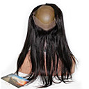 olcso Emberi hajból készült parókák-Maláj haj 360 Frontális Egyenes / 360 Frontal Ingyenes rész Francia csipke Emberi haj