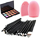 cheap Eye Kits & Palettes-Concealer Cream Concealer / Contour Travel Eco-friendly Professional 22 pcs Makeup Eye Lip Face Dry Wet Matte Whitening Moisture Coverage 15 Colors Cosmetic Grooming Supplies