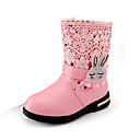 halpa Vihannes- ja hedelmävälineet-Tyttöjen Kengät PU Talvi Comfort / Talvisaappaat Bootsit Kävely Koristehelmillä / Vetoketjuilla varten Musta / Punainen / Pinkki