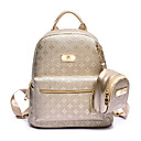 cheap Backpacks-Women's Bags PU Backpack for Casual Gold / Black / Beige