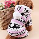 billige Hundetøj-Kat / Hund Hættetrøjer / Jumpsuits / Pyjamas Hundetøj Rensdyr Brun / Blå / Lys pink Polarfleece Kostume For kæledyr Herre / Dame Hold Varm / Jul