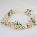 cheap Party Headpieces-Fabric Wreaths with 1 Wedding / Special Occasion / Casual Headpiece