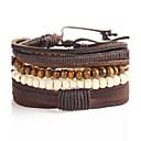 preiswerte Modische Armbänder-Glasperlen Lederarmbänder - Anker Modisch Armbänder Kaffee Für Weihnachts Geschenke / Geschenk / Alltag / 5 Stück