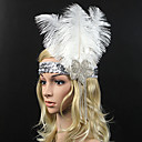 cheap Party Headpieces-Rhinestone / Feather Flowers with 1 Special Occasion Headpiece