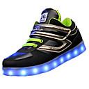 abordables Zapatos de Niño-Chico Zapatos Tejido Primavera / Otoño Confort Zapatillas de deporte Cinta Adhesiva para Negro / Rojo