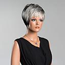 tanie Bez czepka-Peruki bez czepka z naturalnych włosów Włosy naturalne Prosto / Klasyczny Peruka Codzienny / Prosta
