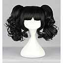 cheap Costume Wigs-new popular harajuku lovely black curly ponytails with full bangs fashion synthetic girl s party cosplay wig Halloween