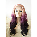 cheap Synthetic Lace Wigs-Synthetic Wig Natural Wave Synthetic Hair Purple Wig Lace Front Purple