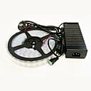 billige Vegglamper-5 m Lyssett 600 LED 5050 SMD Varm hvit / Hvit Vanntett 100-240 V / IP65