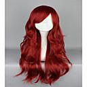 billige Syntetiske parykker-Syntetiske parykker / Kostymeparykker Dame Bølget Rød Syntetisk hår Rød Parykk Lokkløs Rød hairjoy