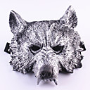 billige Høytidsmasker-Haloween-masker Maskerademasker Ulvehode Horrortema Gummi 1pcs Deler Voksne Gave