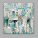cheap Abstract Paintings-Oil Painting Hand Painted - Abstract Classic / Modern Canvas / Stretched Canvas