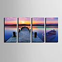 cheap Prints-Stretched Canvas Print Landscape Four Panels Vertical Print Wall Decor Home Decoration