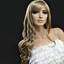 billige Smartklokker-Syntetiske parykker Bølget Blond Syntetisk hår Blond Parykk Dame Lang Lokkløs Blond