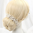 cheap Party Headpieces-Imitation Pearl Alloy Headbands 1 Wedding Headpiece