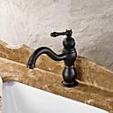 preiswerte Handtuchhalter-Waschbecken Wasserhahn - Verbreitete Öl-riebe Bronze Mittellage Einhand Ein LochBath Taps