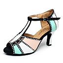 abordables Chaussures Latines-Femme Chaussures de danse Similicuir Chaussures Latines / Chaussures de Jazz / Baskets de Danse Basket Talon Bottier Personnalisables Orange / Rouge / Bleu / Cuir / Entraînement
