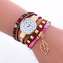 baratos Adesivos de Parede-Mulheres Bracele Relógio / Relógio de Pulso Legal / Punk PU Banda Amuleto / Brilhante / Folhas