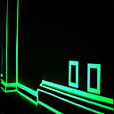 cheap Night Lights-Green/Orange Fluorescence  Sticker Night Luminous Tape Strip Decal Decoration for Stair Door Motorcycle Car Luminous Tape Reflective