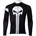 cheap Handlebars & Stems-ILPALADINO Men's Long Sleeve Cycling Jersey - Black Bike Jersey, Quick Dry, Ultraviolet Resistant, Breathable