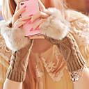 baratos Capas Para Tablet&Protetores de Tela-Mulheres Até o Pulso Meio Dedo Luvas Retalhos / Inverno