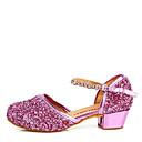 hesapli Modern Dans Ayakkabıları-Latin Dans Ayakkabıları Payetli Sandaletler Taşlı / Toka Düşük Topuk Kişiselletirilmemiş Dans Ayakkabıları Altın / Gümüş / Mor / İç Mekan