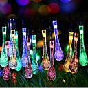 preiswerte LED Lichterketten-Super-Größe Galaxie Tröpfchen Licht String von farbigen Lichtern 2 Meter 20 Kopf Batteriekasten von Lampen 2,3 Meter
